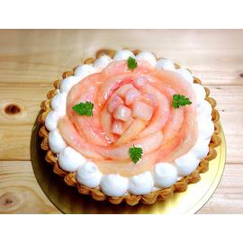 桃のチーズタルト